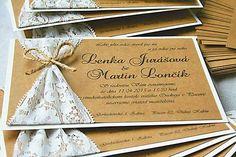 Svadobné oznámenie VINTAGE / luccynArt - SAShE.sk - Handmade Papiernictvo