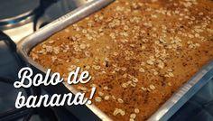 Como fazer bolo de banana sem farinha, sem açúcar e sem leite