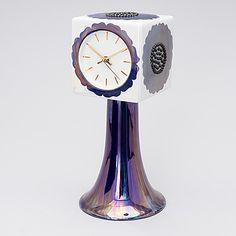 "BIRGER KAIPIAINEN, A ceramic ""Florence"" table clock, stamp signed Birger Kaipiainen ARABIA FINLAND. - Bukowskis"