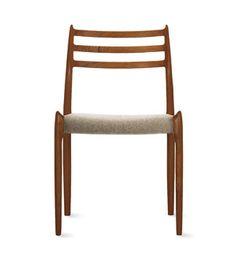 Møller Model 78 Side Chair, Designed by Niels Otto Møller, produced by J.L. Møllers Møbelfabrik, at Design Within Reach.