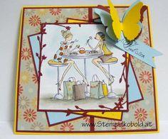 Geburtstagskarte - Material von www.stempelkobold.at Chelsea, Sushi, Girls, Stamping, Material, Inspiration, Decor, Birth, Cards