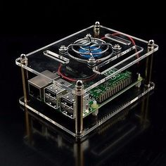 Clear acrylic #case+cooling system #external fan+screw driver for #raspberry pi 3,  View more on the LINK: 	http://www.zeppy.io/product/gb/2/152209006958/