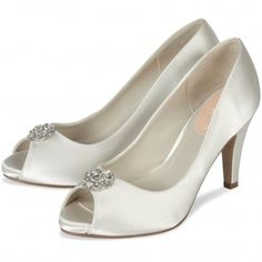 Lustre by Pink for Paradox London Ivory or White Dyeable Vintage Wedding or Occasion Shoes