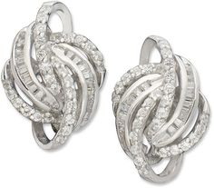 Wrapped in LoveTM Love Knot Diamond Earrings in 14k White Gold (1/2 ct. t.w.) on shopstyle.com