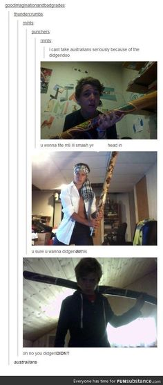 Didgerydying of laughter
