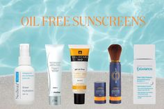 Perfect sunscreens for oily skin that are oil free! Oily Skin Care, Skin Care Tips, How To Treat Acne, Sun Protection, Summer Sun, Free, Holiday, Skin Tips