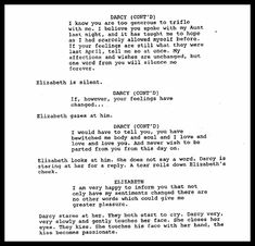 """Pride and Prejudice 2005 original script sceond proposal 2... This is better than the """"your hands are cold"""" bit"""