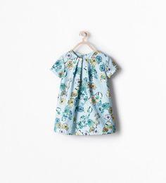 ZARA - KIDS - FLORAL JACQUARD DRESS