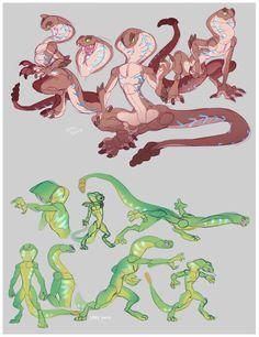 Sethrak Sketchpile by ground-lion - Frauen Haar Modelle Fantasy Character Design, Character Design Inspiration, Character Concept, Character Art, Creature Concept Art, Creature Design, Mythical Creatures Art, Fantasy Creatures, Anthro Dragon