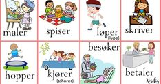 Norsk verbs Norwegian Words, Down Syndrom, Swedish Language, Norway Language, Chinese English, Comics, Learning, Kids, Experiment