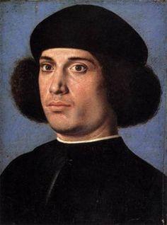 A Man (recto), ca. 1502 (Andrea Previtali) (1480-1528) Museo Poldi Pezzoli, Milan
