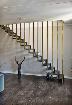 Pietro Russo Edo's House Staircase Landing, Staircase Railings, Staircase Design, Stairways, Metal Stairs, Modern Stairs, Balustrade Inox, Stairs To Heaven, Balcony Railing Design
