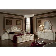 vig rococo italian classic beige bedroom set dormitorios