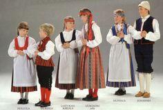 finnish folk dress  Tavastia, Karelia and Osthrobotnia