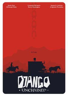 Django Unchained (2012) ~ Minimal Movie Poster by Mads Svanegaard #amusementphile