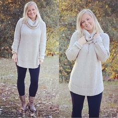 How warm and cozy does this sweater look?! It's perfect to pair with leggings (our high waist fleece ones rock)!    55% Cotton 45% Acrylic | Shop this product here: http://spreesy.com/shoptopshelfwardrobe/1434 | Shop all of our products at http://spreesy.com/shoptopshelfwardrobe    | Pinterest selling powered by Spreesy.com