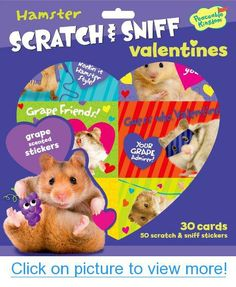 Peaceable Kingdom / Hamster Scratch $ Sniff Grape Scented Valentine Cards #Peaceable #Kingdom #Hamster #Scratch # #Sniff #Grape #Scented #Valentine #Cards