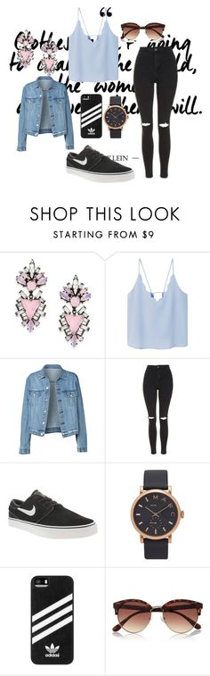 """my style"" by alexia2101 on Polyvore featuring mode, Erickson Beamon, MANGO, Topshop, NIKE, Marc Jacobs, adidas en River Island"