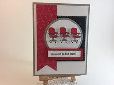 Items similar to Welcome to the Team on Etsy Welcome To The Team, Happy Birthday Flower, Mini Desk, Stamping Up Cards, Paper Cards, Soft Colors, Card Sizes, Stampin Up, Card Stock