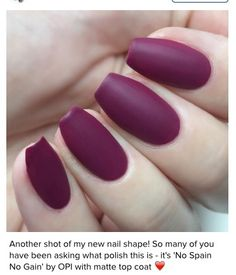 2016 Short Ballerina Coffin Nails Matte More