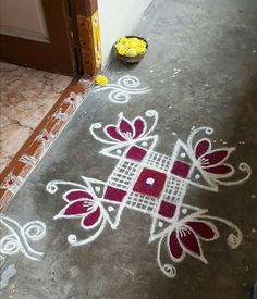 Kolsms Simple Rangoli Border Designs, Rangoli Simple, Indian Rangoli Designs, Rangoli Designs Latest, Rangoli Borders, Rangoli Designs Flower, Free Hand Rangoli Design, Small Rangoli Design, Rangoli Patterns