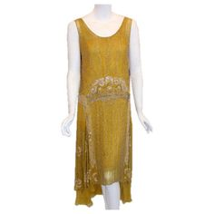 French Custom made, hand-beaded cocktail dress Circa early 1920s  France