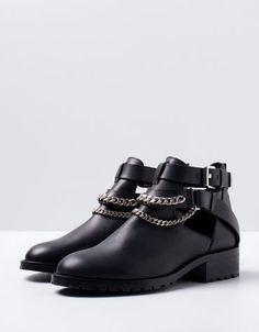 Bershka Macedonia -Bershka LEATHER ankle boots