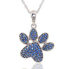 Blue Topaz Dog Paw Charm Pendant 14k White Gold Plated w/... https://www.amazon.com/dp/B06XS21F3N/ref=cm_sw_r_pi_dp_x_nLG1ybBEN5A0A