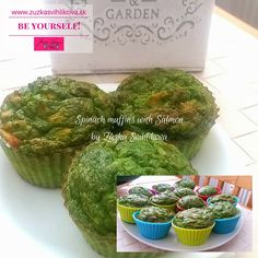 Spinach and salmon muffins.