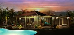 Exterior Rendering for a new house in Puerto Escondido, Mexico. 3d Rendering, New Homes, Mexico, Exterior, Mansions, Architecture, House Styles, Design, Home Decor