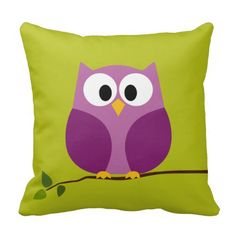 Cute Owl Cartoon on branch with Pattern on back Pillow we are given they also recommend where is the best to buyHow to          Cute Owl Cartoon on branch with Pattern on back Pillow lowest price Fast Shipping and save your money Now!!...