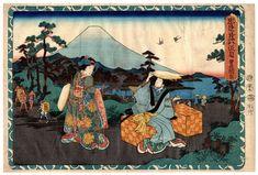 Lotto 00780 N.1 xilografia ukiyo-e Utagawa Kunisada IL VIAGGIO NUZIALE DI KONAMI Anno: 1854 Condizioni: buone Dimensioni: 37 x 24,5 cm