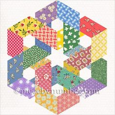 Looking for your next project? You're going to love Hexagonia paper pieced block by designer PieceByNumber.