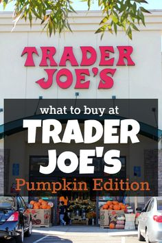 What to buy at Trader Joe's: Pumpkin Edition. TJ's has the BEST pumpkin products. Check out this huge list of avaialble items and prices!