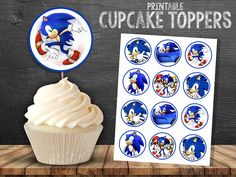 Sonic CUPCAKE TOPPERS 2 INCH.-INSTANT DOWNLOAD (NON PERSONALIZED) Please Read the entire listing information: INSTANT DOWNLOAD **Details** This is a digital file for download, no physical item will be mailed out. You will receive: -12 Toppers per page. -Size: 2 inch 12 TOPPERS