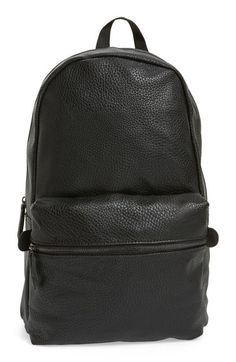 cf2005f202b3 Topman Faux Leather Backpack available at  Nordstrom Faux Leather Backpack