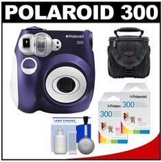 Polaroid 300 Instant Camera, Black Value Bundle | Instant Film ...