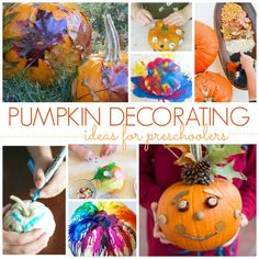 25 Pumpkin Painting & Decorating Ideas for Kids (No Carving Needed!) No Carve Pumpkin Decorating, Pumpkin Carving, Pumpkin Painting, October Preschool Themes, Pre K Pages, Melting Crayons, Painted Pumpkins, Kindergarten Classroom, Literary Characters