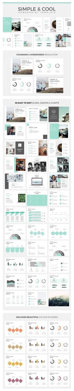 Simple & Cool PowerPoint Template - #Creative #PowerPoint Templates