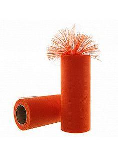 Orange Tulle Spool Roll Tutu Wedding Gift Bow - USD $1.99