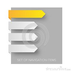 Illustration about Modern navigation items on gray background and shadows(vector). Illustration of paper, empty, color - 60639099 Gray Background, Shadows, Illustration, Modern, Color, Colour, Darkness, Trendy Tree, Illustrations