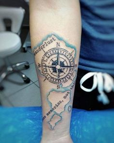Travel-themed+forearm+piece+by+Silvinka+Kuzelova