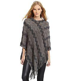 Ruyi Knit Zigzag Poncho #Dillards