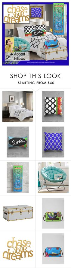 """""""Summer Bright Bedroom Decor"""" by funstyles-1 ❤ liked on Polyvore featuring interior, interiors, interior design, home, home decor, interior decorating, Madison Park, PBteen and bedroom"""