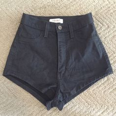 High waisted Jean short shorts High waisted Jean short shorts. Dark Jean color. Purchased from nasty gal. New without tags Nasty Gal Shorts Jean Shorts