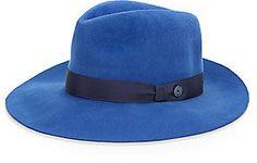 €65, Sombrero de Lana Azul de Saks Fifth Avenue RED. De Off 5th. Detalles: https://lookastic.com/women/shop_items/92100/redirect