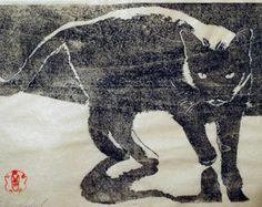 "Japanese Woodblock Print ""Deceiver"" unframed"