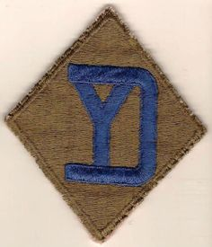 Original Vintage WW2 US Army 24th Division Shoulder Insignia