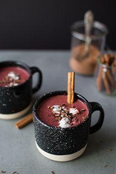 Red Velvet Hot Chocolate (Vegan + Sugar-Free) by The Green Life