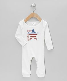 Look what I found on #zulily! Truffles Ruffles White 'American Baby' Playsuit - Infant by Truffles Ruffles #zulilyfinds